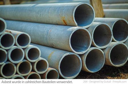 In älteren Rohren wie diesen steckt oft Asbest. Auch in Aachen ist Asbest oft ein Problem.