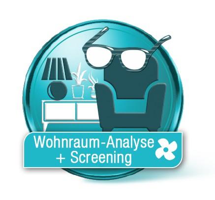 Luftanalyse Wohnraum + Screening