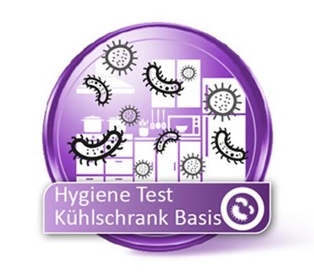 Kühlschrank Hygiene Test auf Bakterien Basis